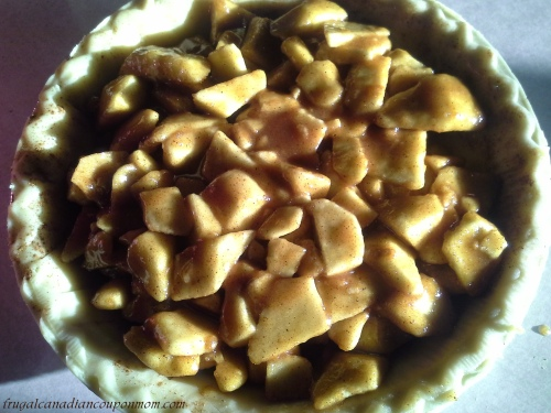 uncooked apple pie